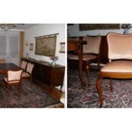 6 Chippendale-Stühle mit Sitz- und Rückenpolster