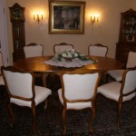 Kombiniertes Chippendale-Wohn-/Esszimmer mit Erkergruppe - Foto Nr. 2