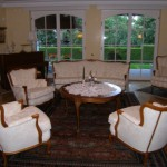 Kombiniertes Chippendale-Wohn-/Esszimmer mit Erkergruppe - Foto Nr. 1