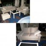 2 klassische Sofa/2 + 1 Hocker Modell Cor