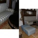 Kombination einer Antiquität mit klassischen Sesseln