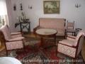 Empire-Sofa + 2 Sessel + Stühle