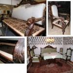 Gründerzeitsofa + 2 Gründerzeitsessel + 2 Stühle