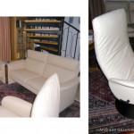 klassisch moderne Sofas mit Fernsehdrehsessel