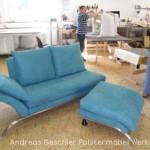 Rolf Benz-Sofa - Recamiere mit Beistellhocker